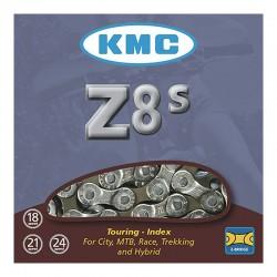 CADENA K.M.C. Z8S INDEX 7/8V CROMO/GRIS