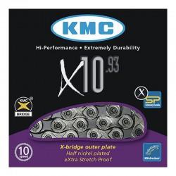 CADENA K.M.C. X-10-93 INDEX 10V CROMADO/GRIS