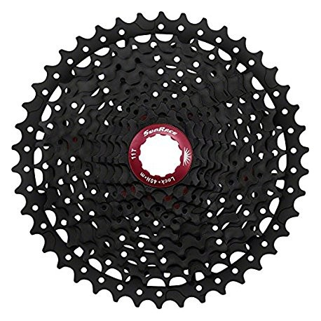 CASSETTE SUNRACE 11/42 11V MX8 BLACK / RED
