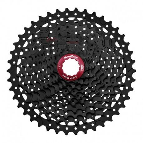 CASSETTE SUNRACE 11/42 10V MX3 BLACK / RED