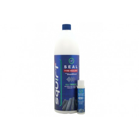 SQUIRT SEAL TYRE SEALANT WITH BEADBLOCK - 1 000ML